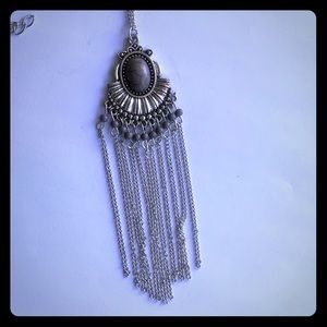 Necklace With Grey Stone